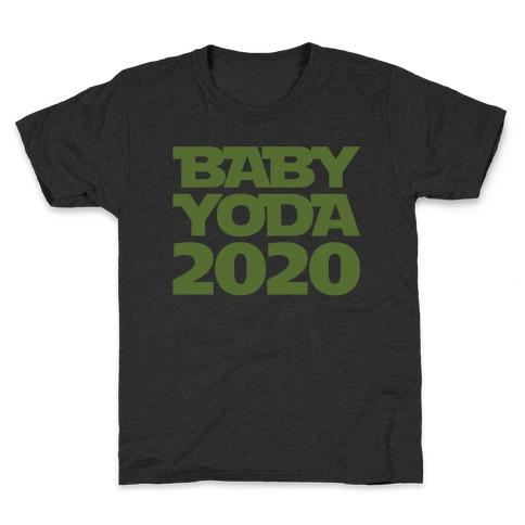 Baby Yoda 2020 Parody White Print Kids T-Shirt