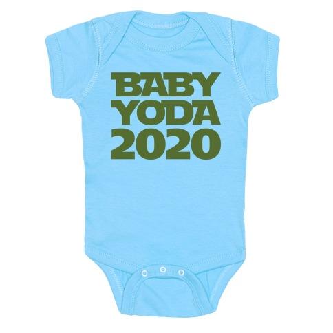 Baby Yoda 2020 Parody White Print Baby Onesy