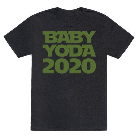 Baby Yoda 2020 Parody White Print T-Shirt