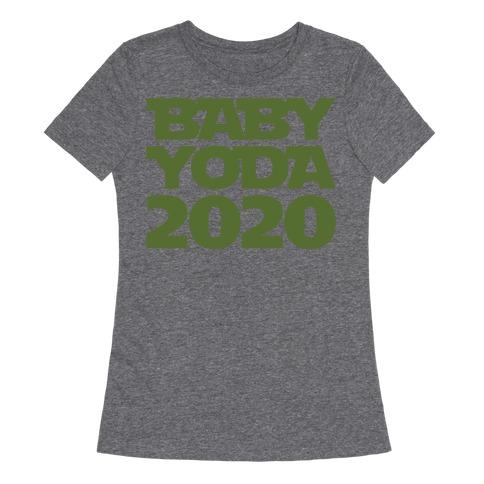 Baby Yoda 2020 Parody White Print Womens T-Shirt