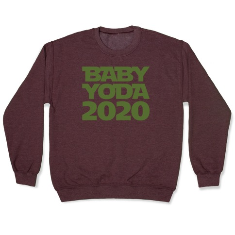 Baby Yoda 2020 Parody White Print Pullover