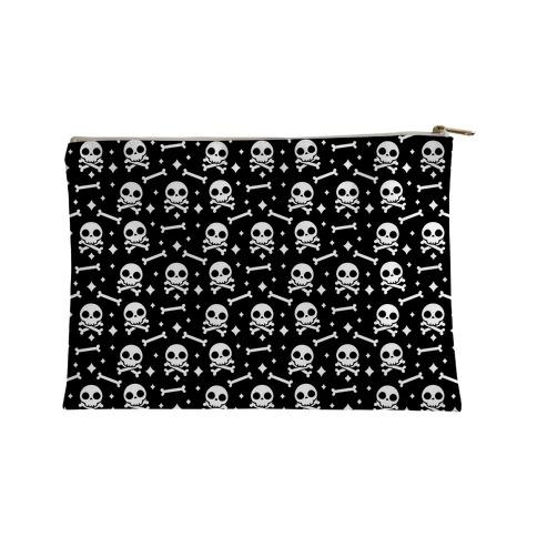 Cute Skull N' Bones Pattern (Black) Accessory Bag