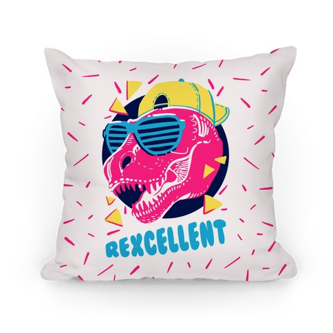 T-Rexcellent 90's Dinosaur Tyrannosaurus Pillow