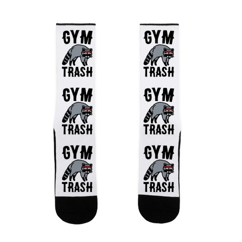 Gym Trash Raccoon  Sock