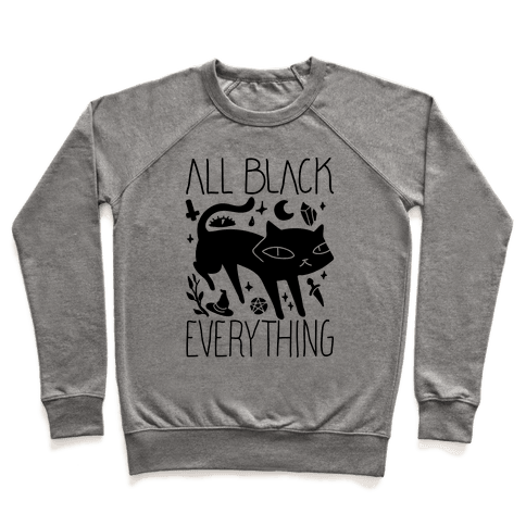 All Black Everything Cat Pullover