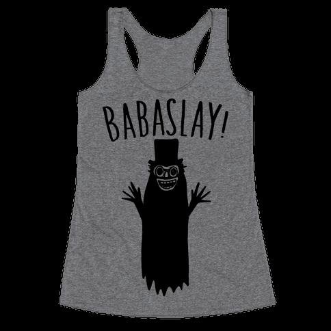 Babaslay Parody Racerback Tank Top