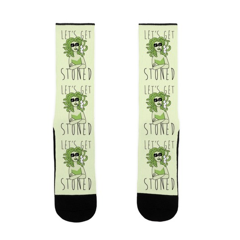 Let's Get Stoned - Medusa Sock