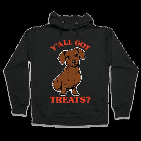 Y'all Got Treats Dachshund Hooded Sweatshirt