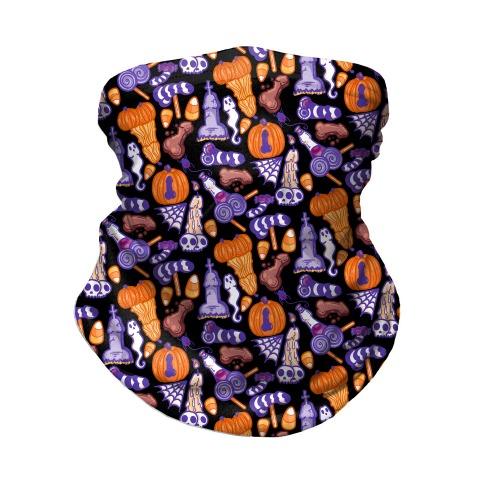 Halloweenies Pattern Neck Gaiter