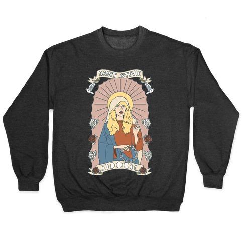 Saint Stevie Parody White Print Pullover