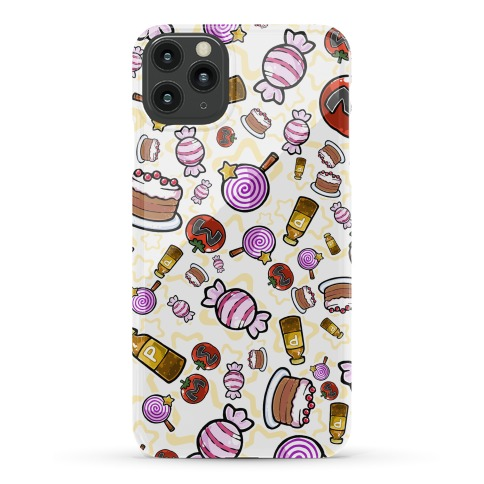 Kirby Munchies Pattern Phone Case