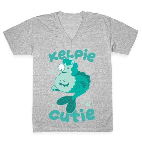 Kelpie Cutie V-Neck Tee Shirt