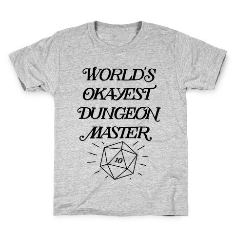 World's Okayest Dungeon Master Kids T-Shirt