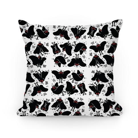 Cute Mothman Pattern Pillow