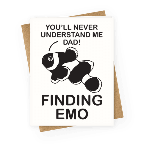 Finding Emo Greeting Card