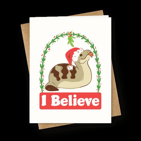 I Believe in the Christmas Tsuchinoko Greeting Card