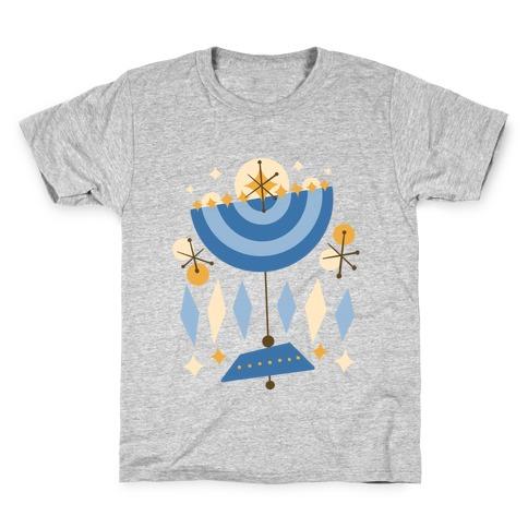 Mid-Century Modern Menorah (Hanukkah) Kids T-Shirt