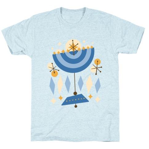 Mid-Century Modern Menorah (Hanukkah) T-Shirt