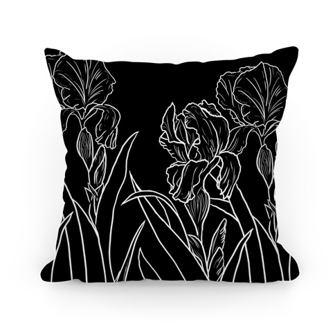 Iris Flowers Pillow
