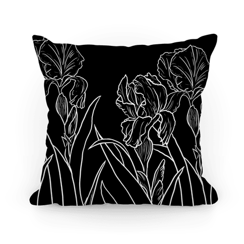 Iris Flowers Pillow