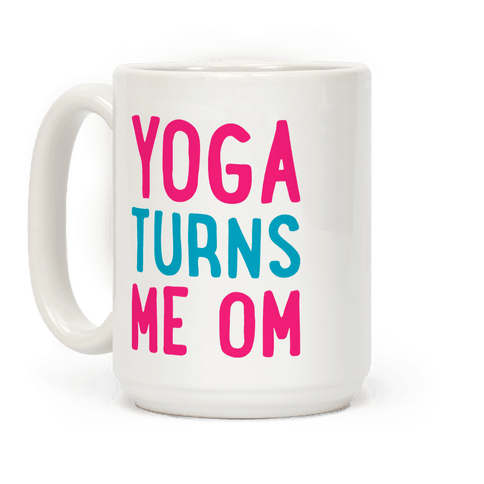 Yoga Turns Me Om Coffee Mug