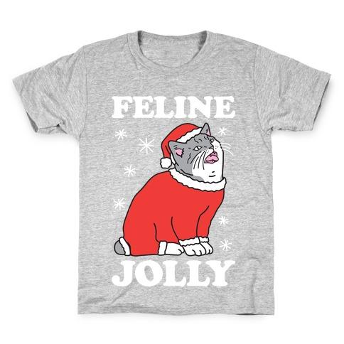 Feline Jolly Cat Kids T-Shirt