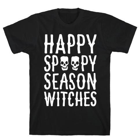 It's Spoopy Season Witches White Print T-Shirt