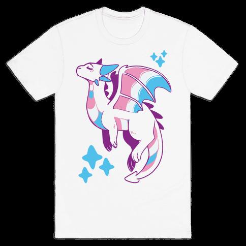 Trans Pride Dragon Mens T-Shirt