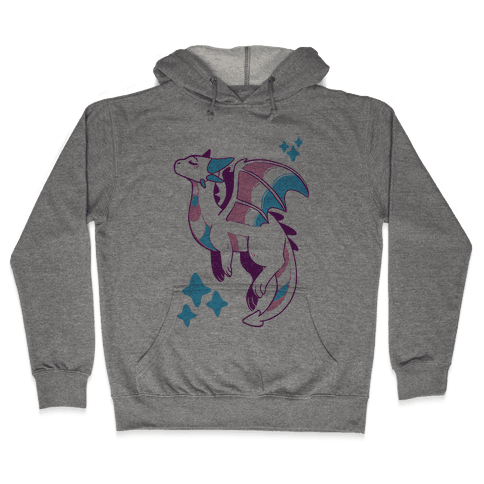 Trans Pride Dragon Hooded Sweatshirt