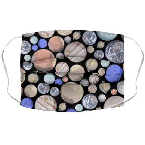 Planets Pattern Accordion Face Mask