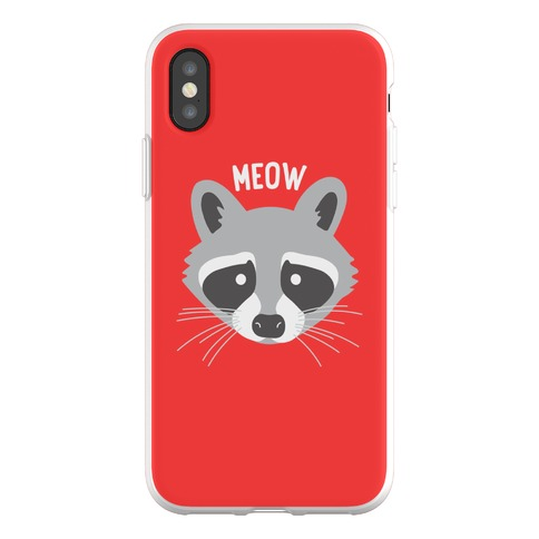 Meow Raccoon Phone Flexi-Case