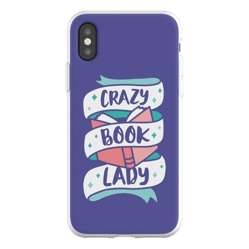 Crazy Book Lady Phone Flexi-Case