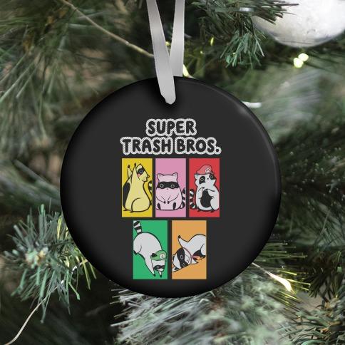 Super Trash Bros. Ornament