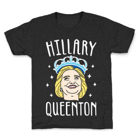 Hillary Queenton (White) Kids T-Shirt