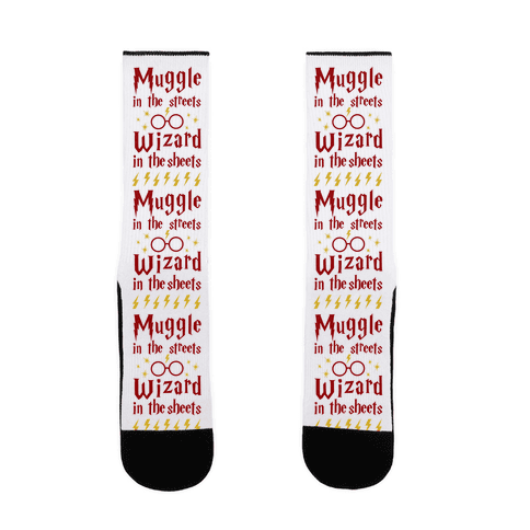 Muggle In Streets Wizard In The Sheets Sock