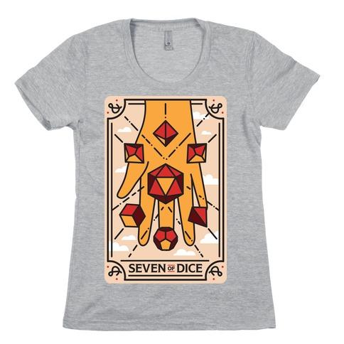 Seven of Dice - D&D Tarot Womens T-Shirt