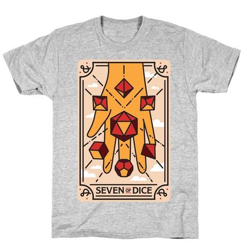 Seven of Dice - D&D Tarot T-Shirt