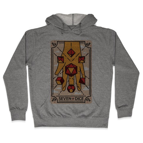 Seven of Dice - D&D Tarot Hooded Sweatshirt