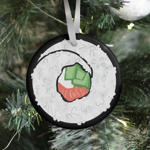 Sushi: Philadelphia Roll Ornament