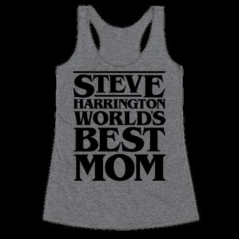 Steve Harrington World's Best Mom Parody Racerback Tank Top