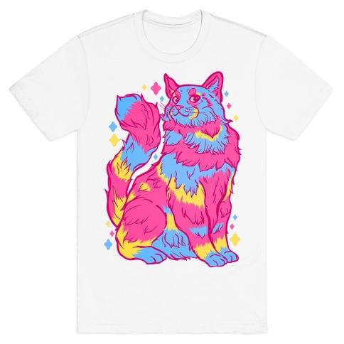 Pansexual Pride Cat T-Shirt