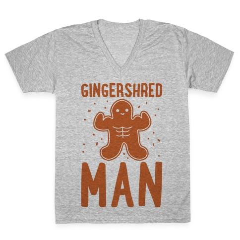 Gingershred Man V-Neck Tee Shirt