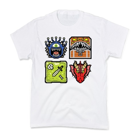 Pixel DnD Monsters Kids T-Shirt