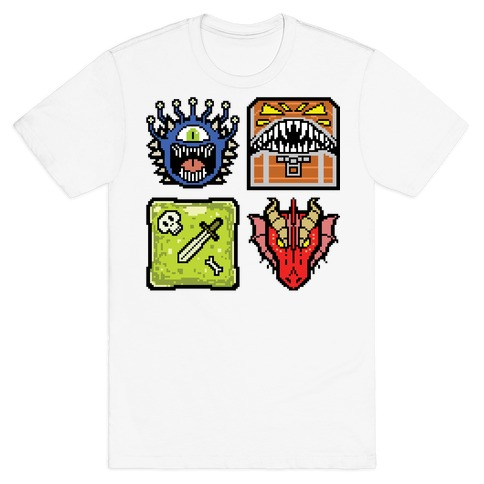 Pixel DnD Monsters T-Shirt