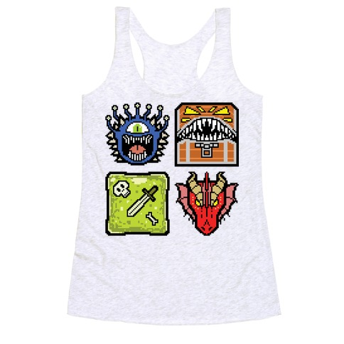 Pixel DnD Monsters Racerback Tank Top