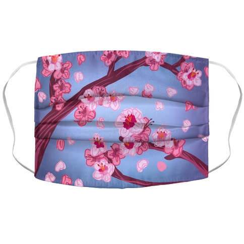 Cherry Blossom Painting Face Mask Cover