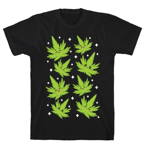 Kawaii Weed Leaves T-Shirt
