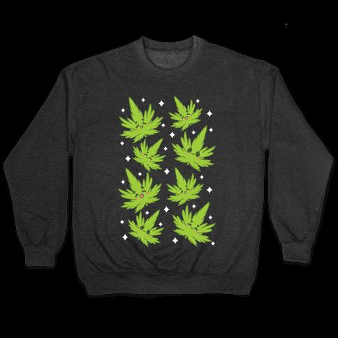 Kawaii Weed Leaves Pullover