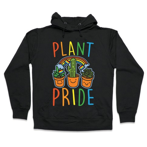 Plant Pride White Print Hooded Sweatshirt