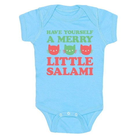 Have Yourself A Merry Little Salami Baby Onesy